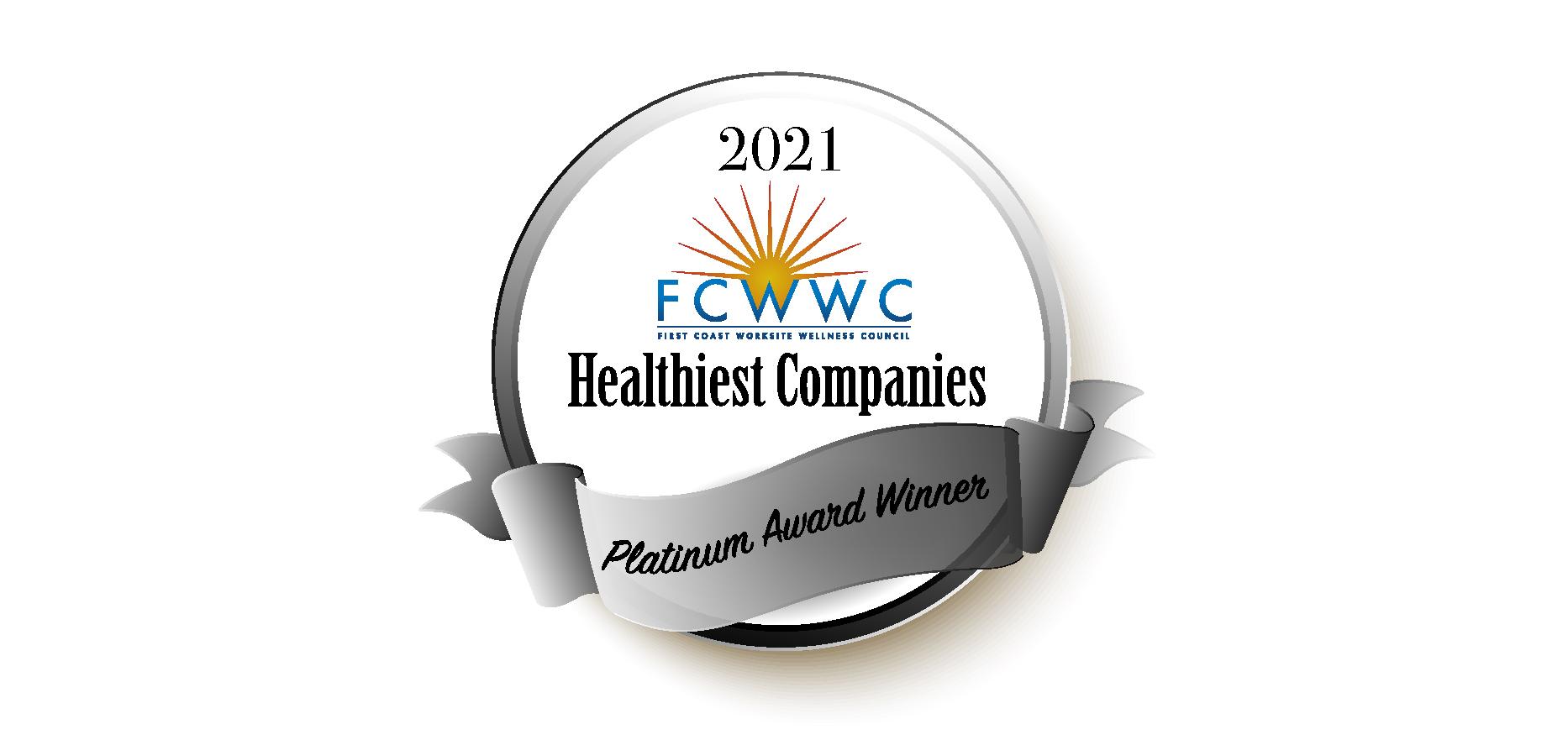First Coast Healthiest Companies Awards Pace Fit Program Platinum Award